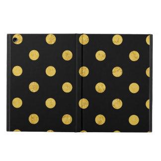 Funda Para iPad Air Modelo de lunar elegante de la hoja del negro y de