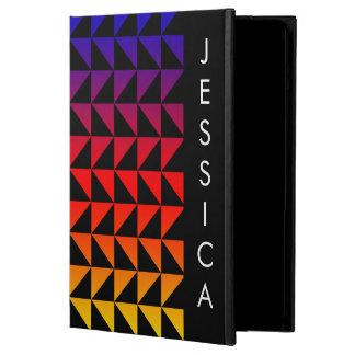 Funda Para iPad Air Modelo geométrico del arco iris brillante