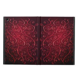 Funda Para iPad Air Modelo rojo texturizado elegante caprichoso del
