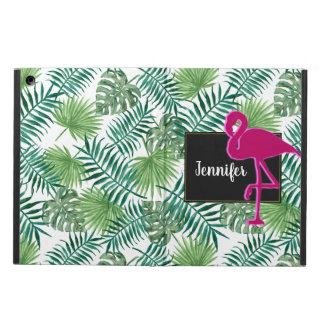 Funda Para iPad Air Modelo tropical de las hojas y flamenco rosado