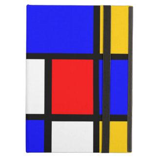 Funda Para iPad Air Mondrian yema de huevo roja azul