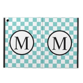 Funda Para iPad Air Monograma simple con el tablero de damas de la