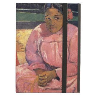 """Funda Para iPad Air """"Mujeres de Tahitian en la playa"""" - Paul Gauguin"""