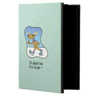 Funda Para iPad Air Navidad corriente del reno del ejercicio