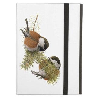 Funda Para iPad Air Pares de Chickadee Castaña-apoyado en árbol de