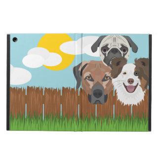 Funda Para iPad Air Perros afortunados del ilustracion en una cerca de