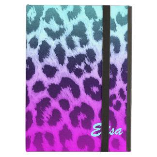 Funda Para iPad Air Personalizado rosado azul del estampado leopardo