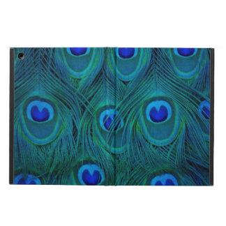 Funda Para iPad Air Pluma parisiense del pavo real del verde del