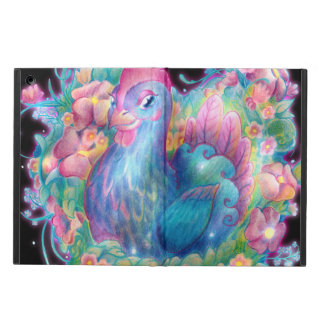 Funda Para iPad Air Pollo y flores hermosos