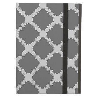 Funda Para iPad Air Quatrefoil en sombras del gris
