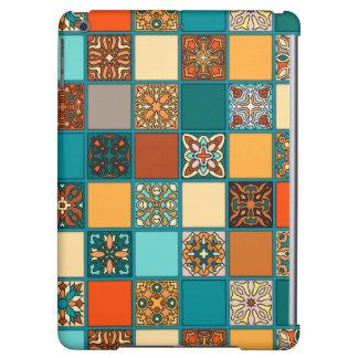 Funda Para iPad Air Remiendo del vintage con los elementos florales de