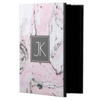 Funda Para iPad Air Remolinos modernos blancos y grises del rosa en