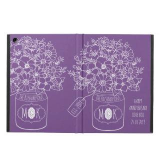 Funda Para iPad Air Tarro de albañil del ramo de los Wildflowers del