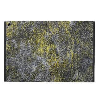 Funda Para iPad Air Tinta blanco y negro en fondo amarillo