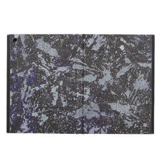 Funda Para iPad Air Tinta blanco y negro en fondo púrpura