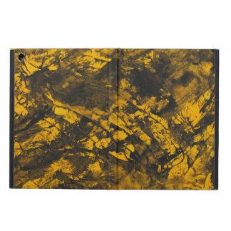 Funda Para iPad Air Tinta negra en fondo amarillo