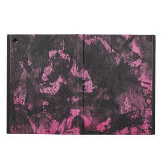 Funda Para iPad Air Tinta negra en fondo rosado