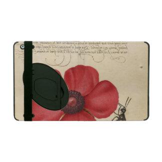 Funda Para iPad Amapola roja y el insecto