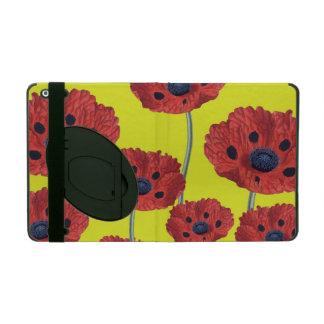 Funda Para iPad Amapolas rojas en amarillo