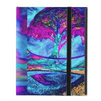 Árbol de la meditación de la vida en púrpura