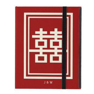 Funda Para iPad Boda chino rojo de la felicidad doble del