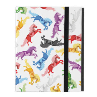Funda Para iPad Caballos de salto coloreados del modelo