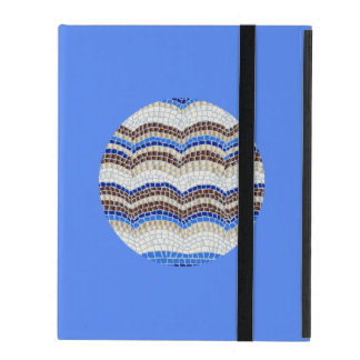 Funda Para iPad Caja azul redonda del iPad 2/3/4 del mosaico