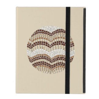 Funda Para iPad Caja beige redonda del iPad 2/3/4 del mosaico