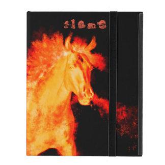 Funda Para iPad colección del caballo. fuego