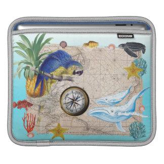 Funda Para iPad Collage azul tropical