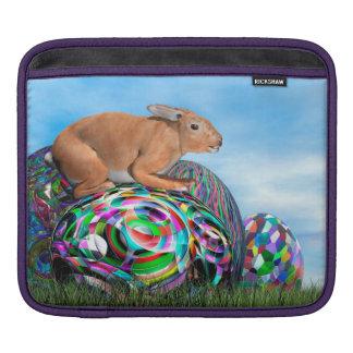 Funda Para iPad Conejo en su huevo colorido para Pascua - 3D