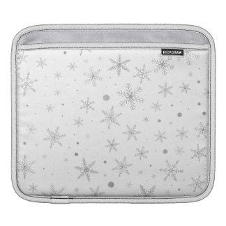 Funda Para iPad Copo de nieve del centelleo - gris y Blanco de