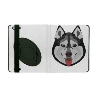 Funda Para iPad El ilustracion persigue el husky siberiano de la