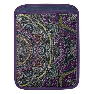 Funda Para iPad Estrellas sagradas y cordón de la mandala púrpuras