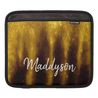 Funda Para iPad Falsa pintura y purpurina del oro en negro