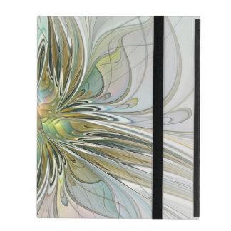Funda Para iPad Flor moderna del arte del fractal de la fantasía