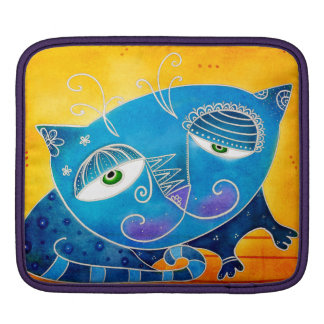 Funda Para iPad Gato azul