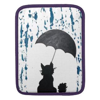 Funda Para iPad Gato debajo del paraguas