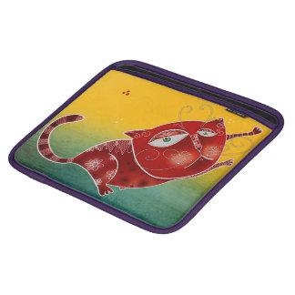 Funda Para iPad Gato rojo