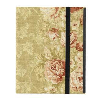 Funda Para iPad grunge, floral, vintage, damascos, papel de