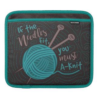 Funda Para iPad Hilado divertido de las agujas de los calceteros