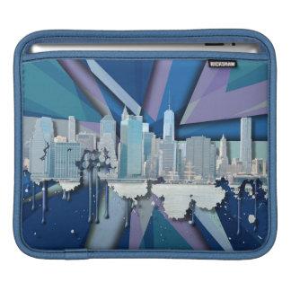 Funda Para iPad Horizonte el | 3D azul de New York City