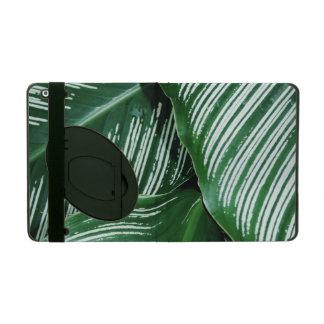 Funda Para iPad Las hojas del verde con blanco rayan el primer