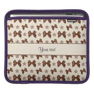 Funda Para iPad Lazos de satén hermosos de Brown