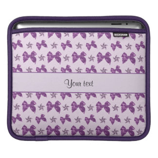 Funda Para iPad Lazos de satén púrpuras hermosos