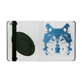 Funda Para iPad Lobo de los azules claros del ilustracion