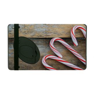 Funda Para iPad Madera rústica con los bastones de caramelo del