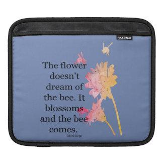 Funda Para iPad manga del iPad que la flor no soña con la abeja