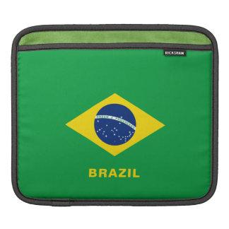 Funda Para iPad Mangas del iPad de la bandera del Brasil