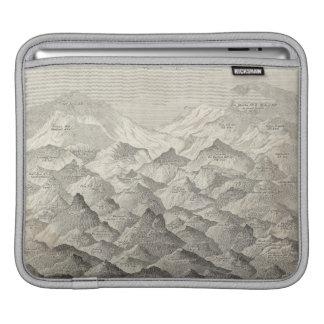 Funda Para iPad Mapa del vintage de colinas y de montañas en Reino